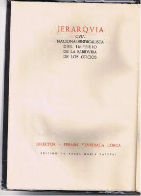 El  Imperio de España en   JERARQVIA (1937)