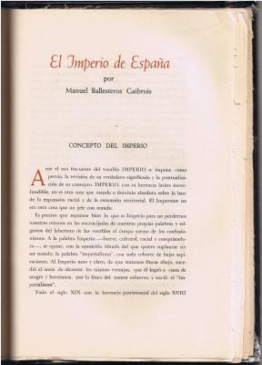 El  Imperio de España en  JERARQVIA  ( I )